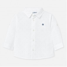 Mayoral-Риза с дълъг ръкав мини щампи и лого