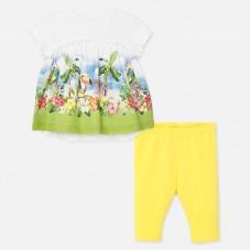 Mayoral-К-т  блуза с клин и цветна  щампа