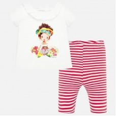Mayoral-К-т  блуза с клин и цветна  щампа с момиче