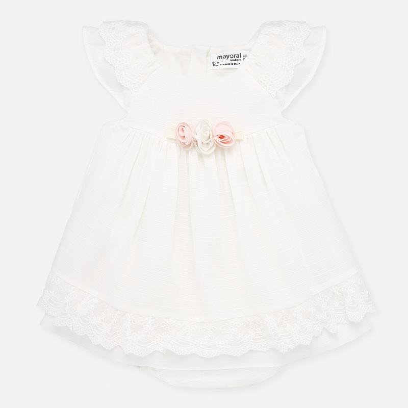 Mayoral-Официална бебешка рокля с гащички