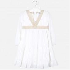 Mayoral-Памучна рокля с дълъг ръкав
