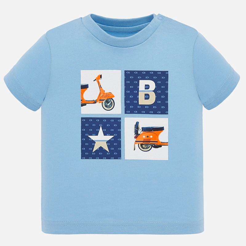 Mayoral тениска с къс ръкав за бебе мотор