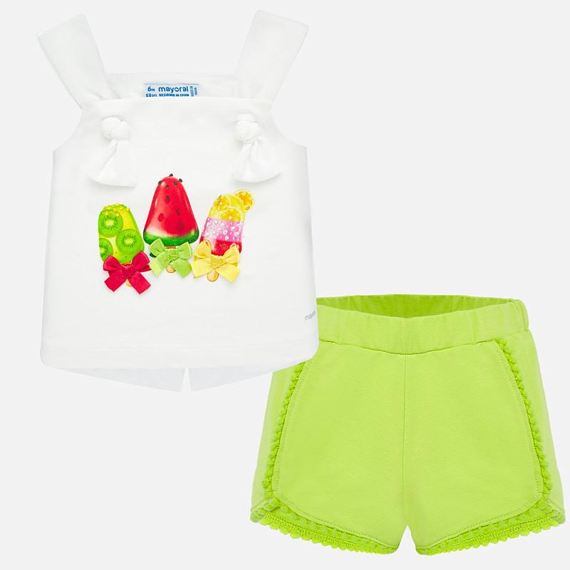 Mayoral-Комплект потнис с панталонки трико със сладолед