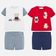 Mayoral-Бебешки комплект от две части тениска с панталонки