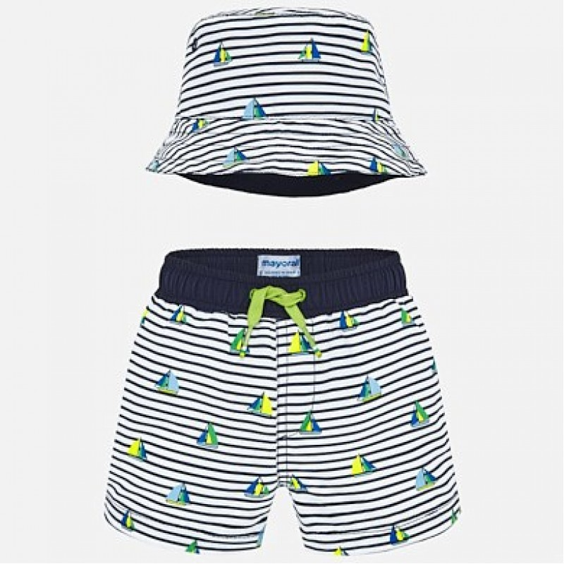 Mayoral-Комплект шапка с бански за бебе момче