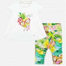 Mayoral-К-т  блуза с принт и цветен клин