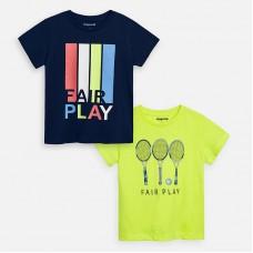 Mayoral-Тениска с къс ръкав Fair Play зелен неон