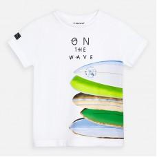 Mayoral-Тениска  къс ръкав с принт дъски за сърф