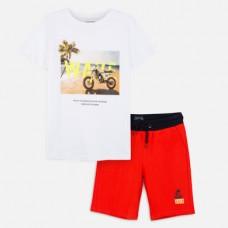 Mayoral-Комплект .бермуди и тениска с рисунка