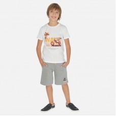 Mayoral-Комплект с бермуди и тениска с рисунка