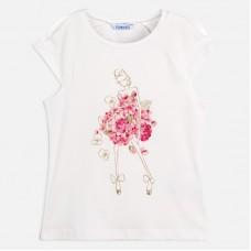 Mayoral-Тениска к/р кукла цветя