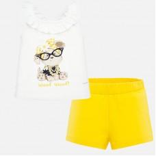 Mayoral-Комплект потник с панталонки за бебе момиче