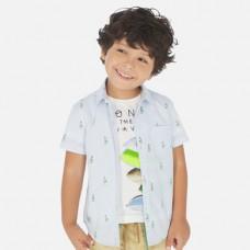 Mayoral-Официална риза с къс ръкав и принт