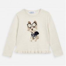 Mayoral-Пуловер меланж за момиче с кученце