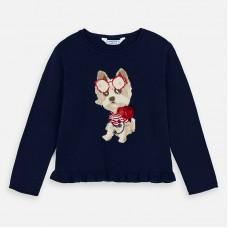 Mayoral-Пуловер  за момиче с кученце