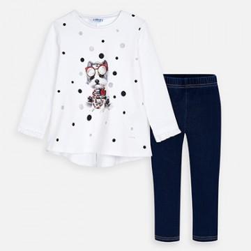 Mayoral-Комплект тениска - дълъг ръкав и клин