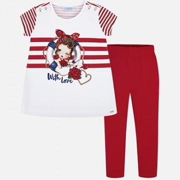 Mayoral-Комплект тениска с райета и клин