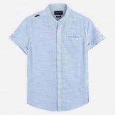 Mayoral-Риза с къс ръкав с яка тип мандарин