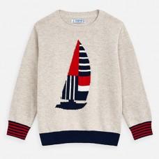 Mayoral-Пуловер на рисунка платноходка