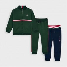 Mayoral-Анцуг с 2 панталона на ленти-без качулка-зелен