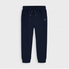 Mayoral-Дълъг основен плюшен панталон с маншети-момче-син