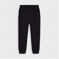 Mayoral-Дълъг основен плюшен панталон с маншети-момче-въглен