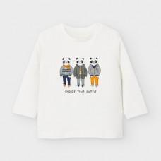 Mayoral-Тениска с дълъг ръкав-рисунка панди
