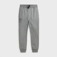 Mayoral- Основен-панталон от плюш с маншети-Метал вигоре