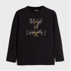 Mayoral-Основна тениска с дълъг ръкав-Keep it simple