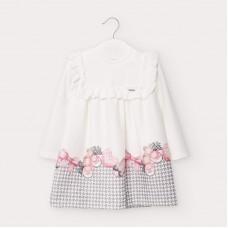 Mayoral-Трикотажна рокля с кант-бебе момиче
