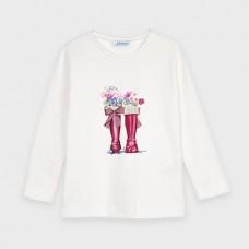 Mayoral-Тениска с дълъг ръкав и рисунка-щампи на ботуши