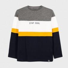 Mayoral-Тениска на райета с дълъг ръкав-stay cool