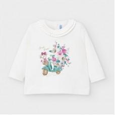 Mayoral-Тениска с дълъг ръкав и рисунка-Нефритен