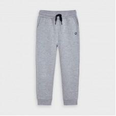 Mayoral-Дълъг основен плюшен панталон с маншети-момче-сив