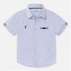 Mayoral-Официална риза с къс ръкав-Небесносин