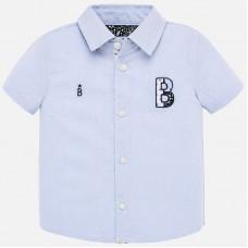 Mayoral-Риза с апликация и бродерия-Небесносин
