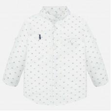 Mayoral-Риза с дълъг ръкав и яка-тип мандарин