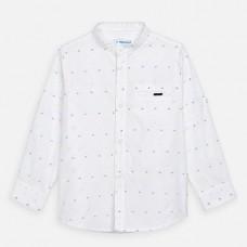 Mayoral-Риза с дълъг ръкав-яка тип мандарин