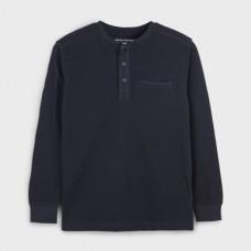 Mayoral-Тениска с дълъг ръкав и кръгла яка-Deep blue