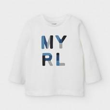 Mayoral-Основна тениска с дълъг ръкав-MYRL-Сметана