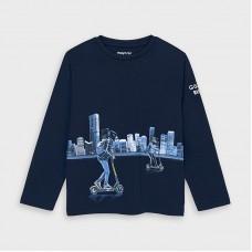 Mayoral-Тениска  дълъг ръкав с отразяващ принт