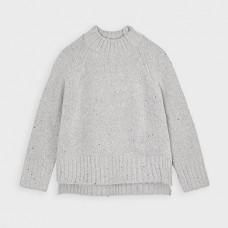 Mayoral-Пуловер с пайети-Стомана вигоре