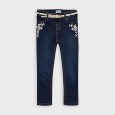 Mayoral-Дълъг метализиран дънков панталон-skinny fit