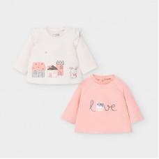 Mayoral-Бебешка блуза дълъг ръкав с апликация къщички