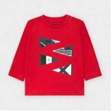 Mayoral-Тениска с дълъг ръкав-рисунка знамена
