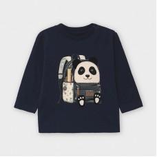 Mayoral-Тениска дълъг ръкав с принт панда раница