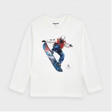 Mayoral-Тениска с дълъг ръкав и рисунка сноуборд-момче