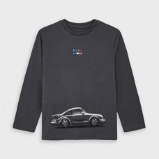 Mayoral-Тениска с дълъг ръкав и рисунка кола-Графит