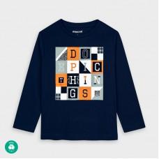 Mayoral-Тениска с дълъг ръкав и букви-момче
