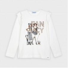 Mayoral-Тениска с дълъг ръкав и рисунка кукли-момиче